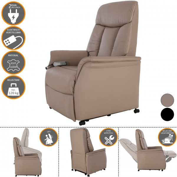 RABURG-Fernsehsessel-CARL-mit-Aufstehhilfe-Liegefunktion-aus-Premiumleder-GrauMandel-mit-2-Motoren-Fernbedienung-10