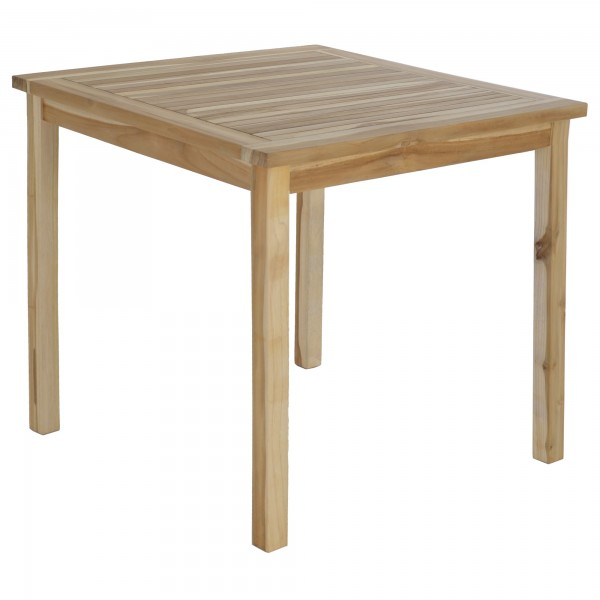 Raburg Gartentisch Beistelltisch XL aus massivem Teak Holz - 90 x 90 cm, quadratischer Holztisch