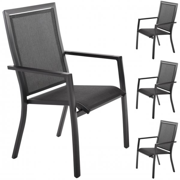 raburg-sonnenpartner-stapelstuhl-4er-set-star-alu-dunkel-grau-textilen-schwarz-silber-103368-01