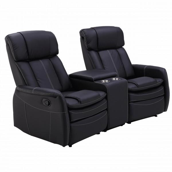 Raburg 2er Sofa Kinosessel MAXX in SCHWARZ - Premium Cinema Relax TV-Sessel für 2 Personen