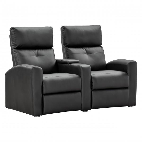 RABURG 2er Kinosessel BEAM - Zweisitzer TV-Relaxsessel Fernsehsessel schwarz