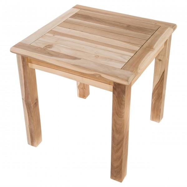 Raburg Beistelltisch aus massivem Teak Holz quadratisch 50x50 cm