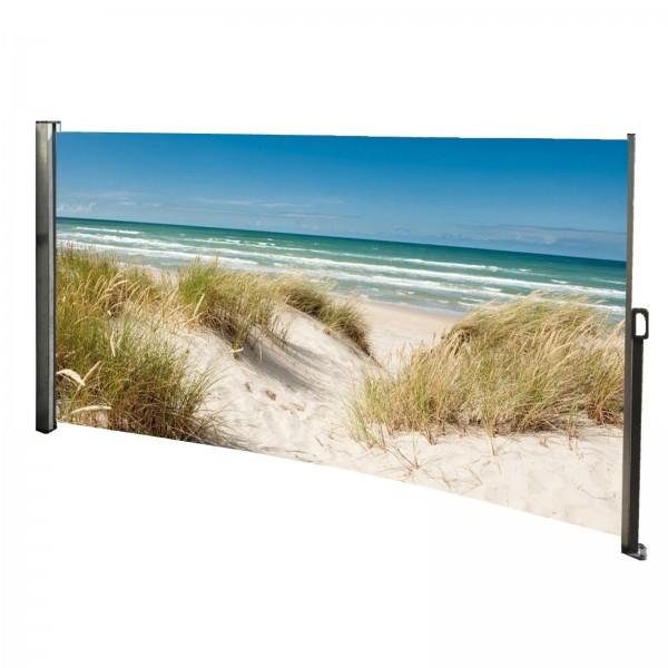 Seitenmarkise Ostsee - Foto Windschutz Sichtschutz Links 160 x 300 cm