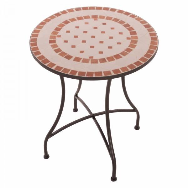 Mosaik Gartentisch Mosaiktisch Ana rund ø 60 Balkon Tisch mehrfarbig