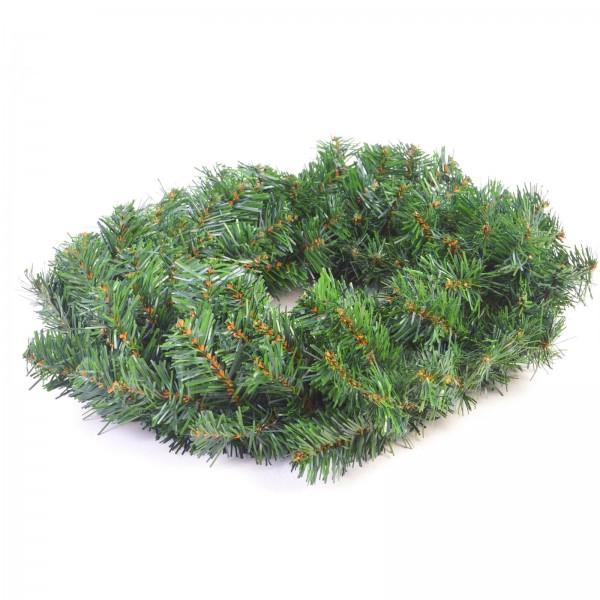Künstlicher Weihnachtskranz / Deko aus Kunststoff in grün ca. 50 cm Ø