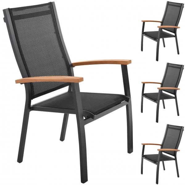raburg-sonnenpartner-stapelstuhl-4er-set-florida-alu-dunkel-grau-textilen-schwarz-teak-103369-01