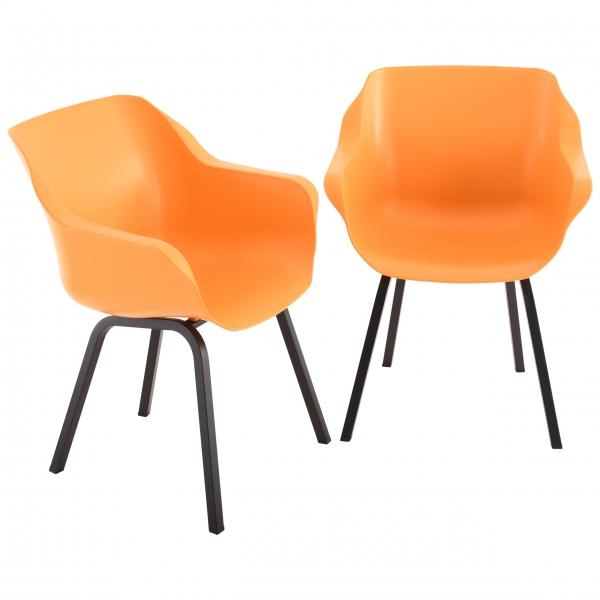 hartman-gartenstuhl-2er-set-sophie-element-orange-alu-schwarz-103282-01